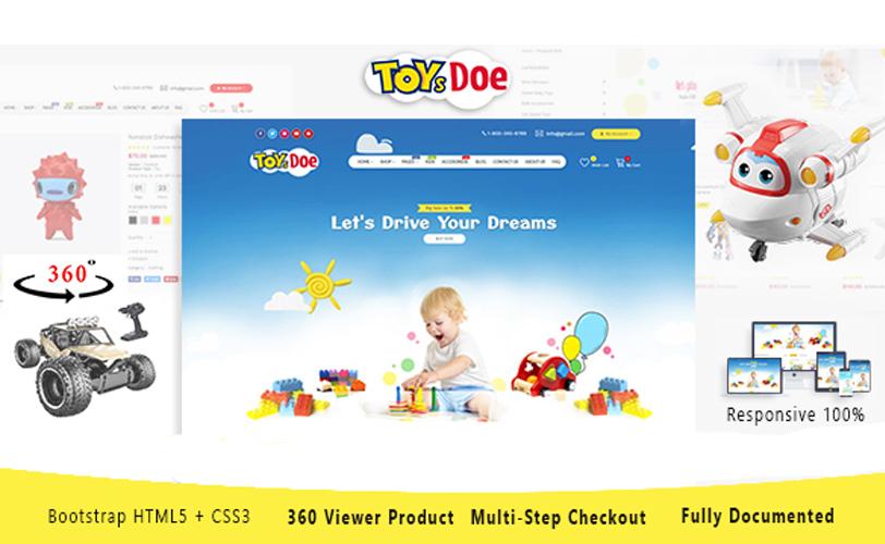 ToysDoe - Kid Toys Store Responsive HTML Template