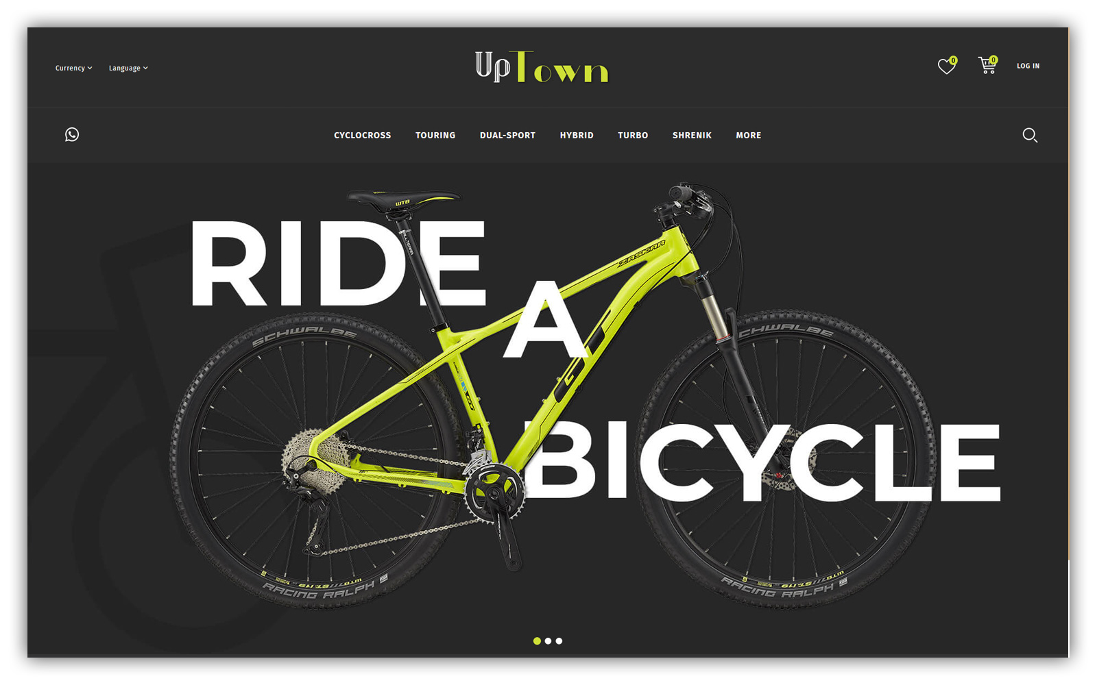 Uptown - Bicycle Store Opencart Theme