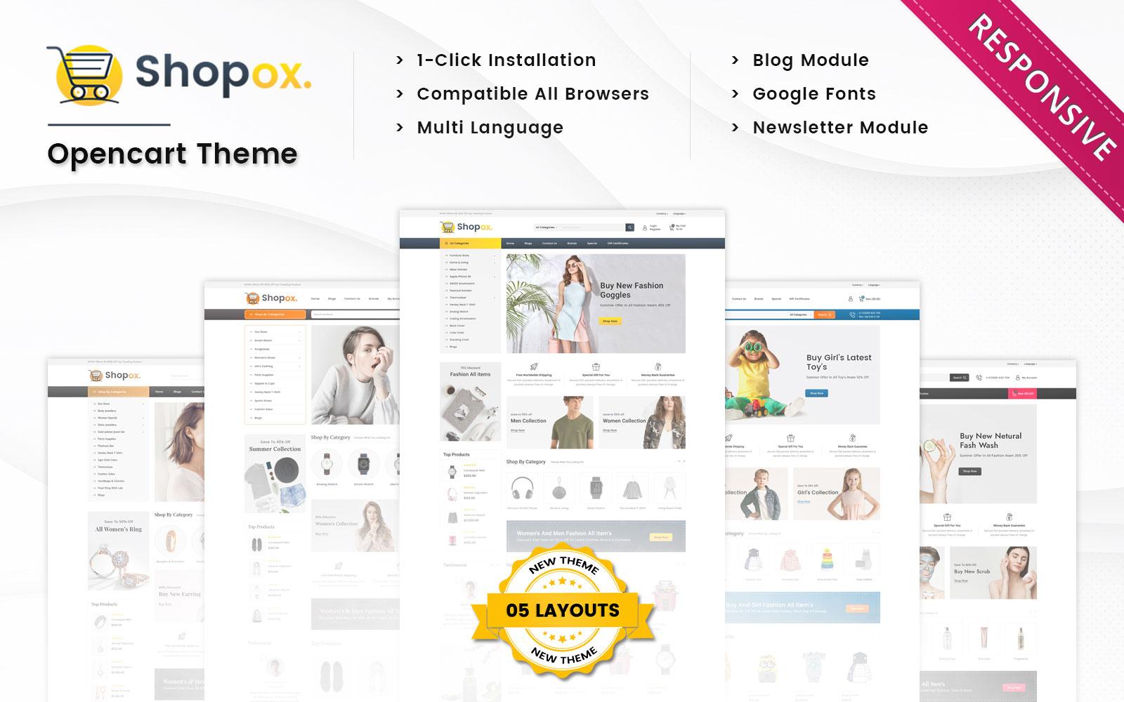Shopox - Multi Purpose Responsive Opencart 3.x  Theme