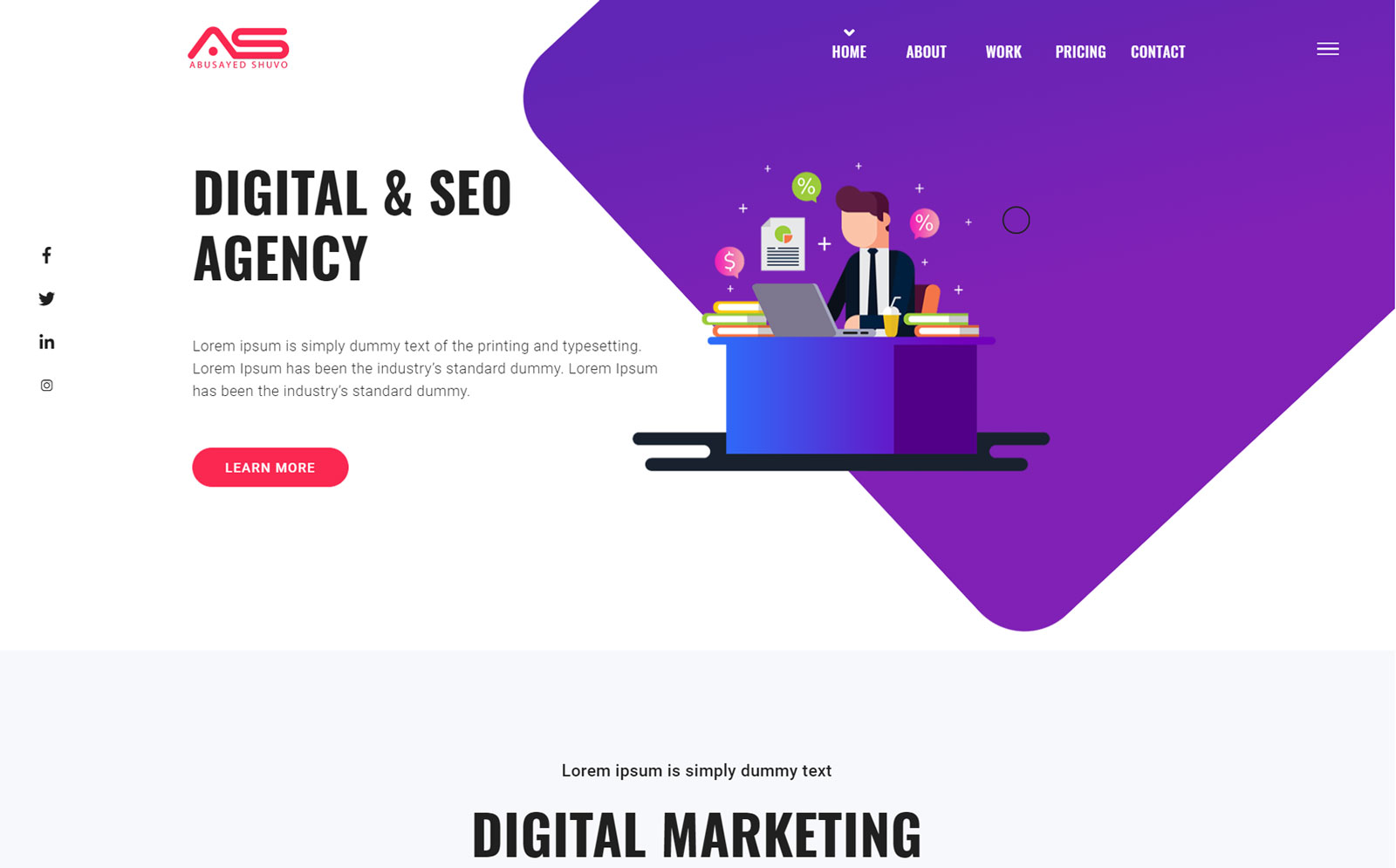 Abusayed   SEO and Marketing Agency HTML5 Landing Page Template
