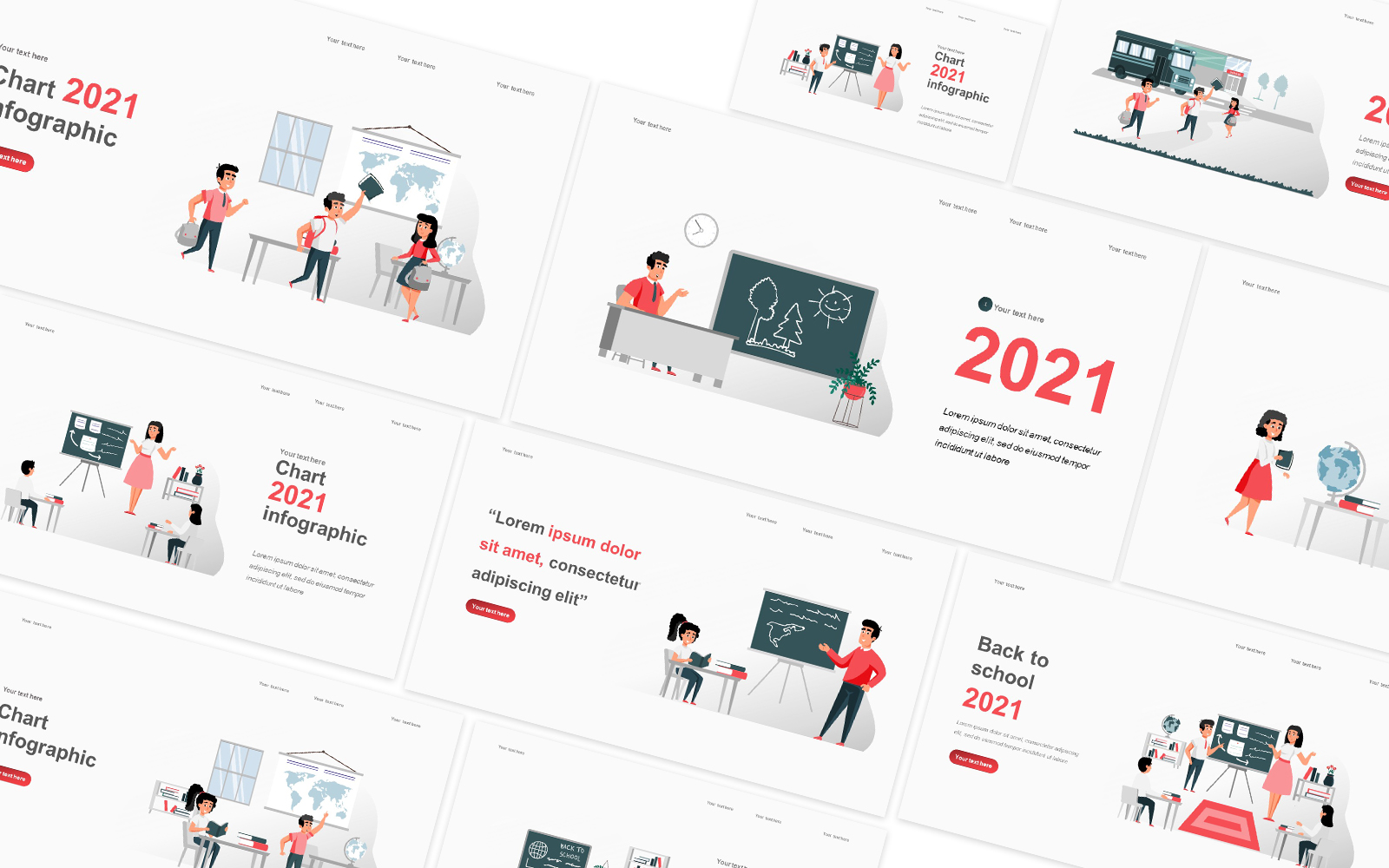 Back To School Illustration Powerpoint Template