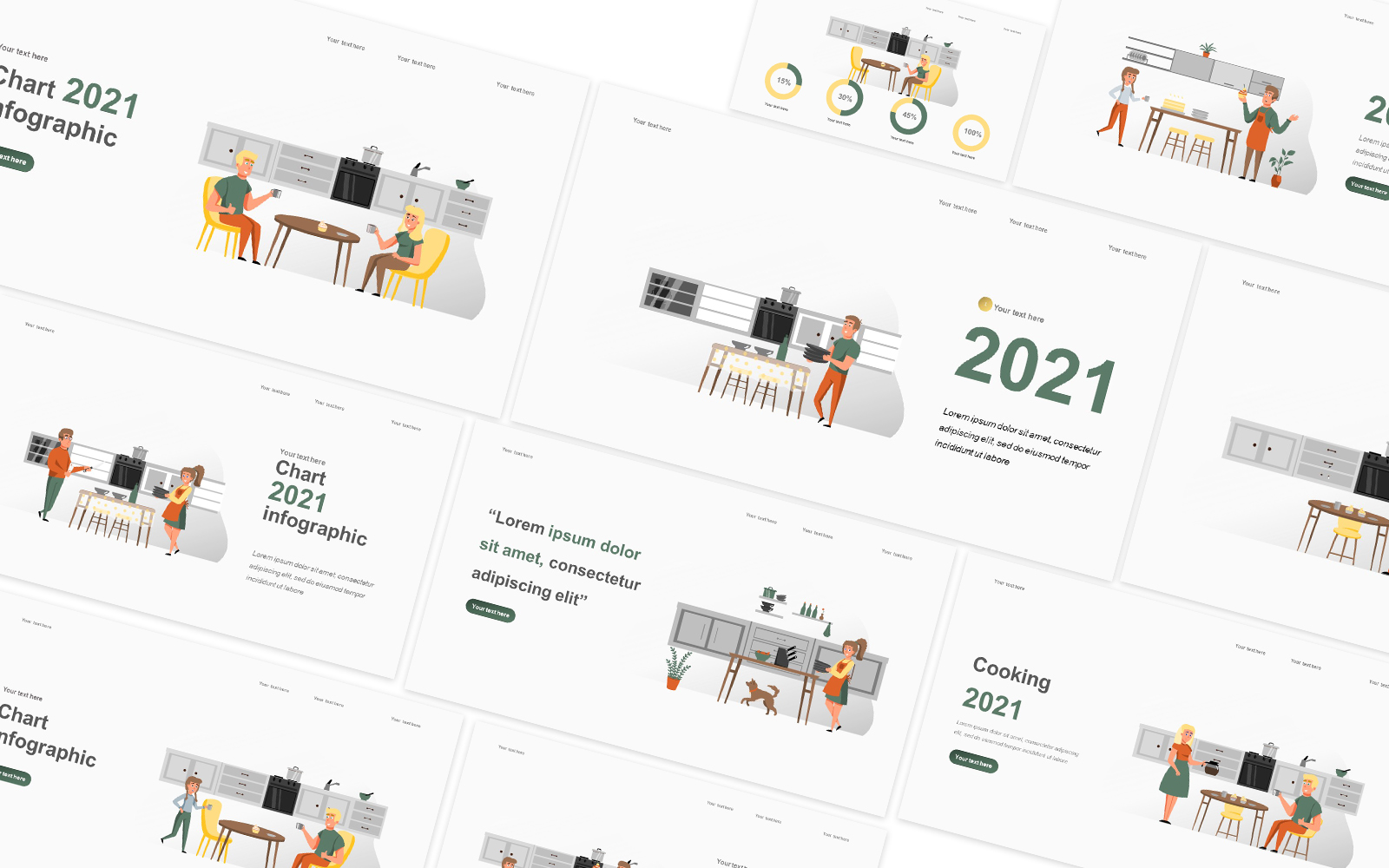Cooking Illustration Powerpoint Template