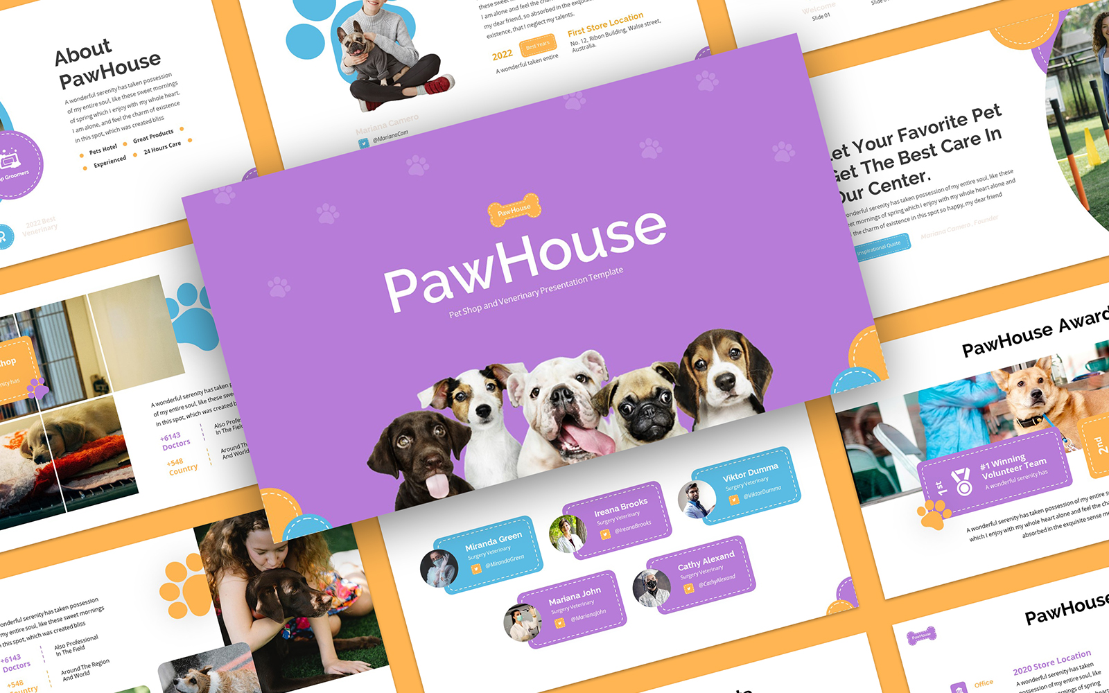 PawHouse - Petshop and Veterinary PowerPoint Template