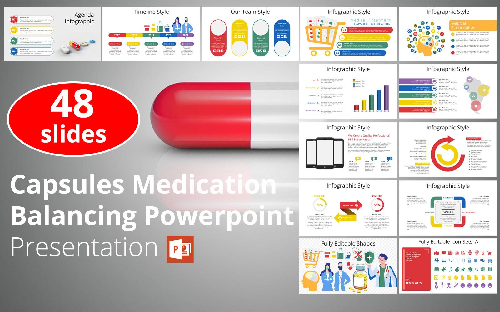 Capsules Medication Balancing Powerpoint Presentation