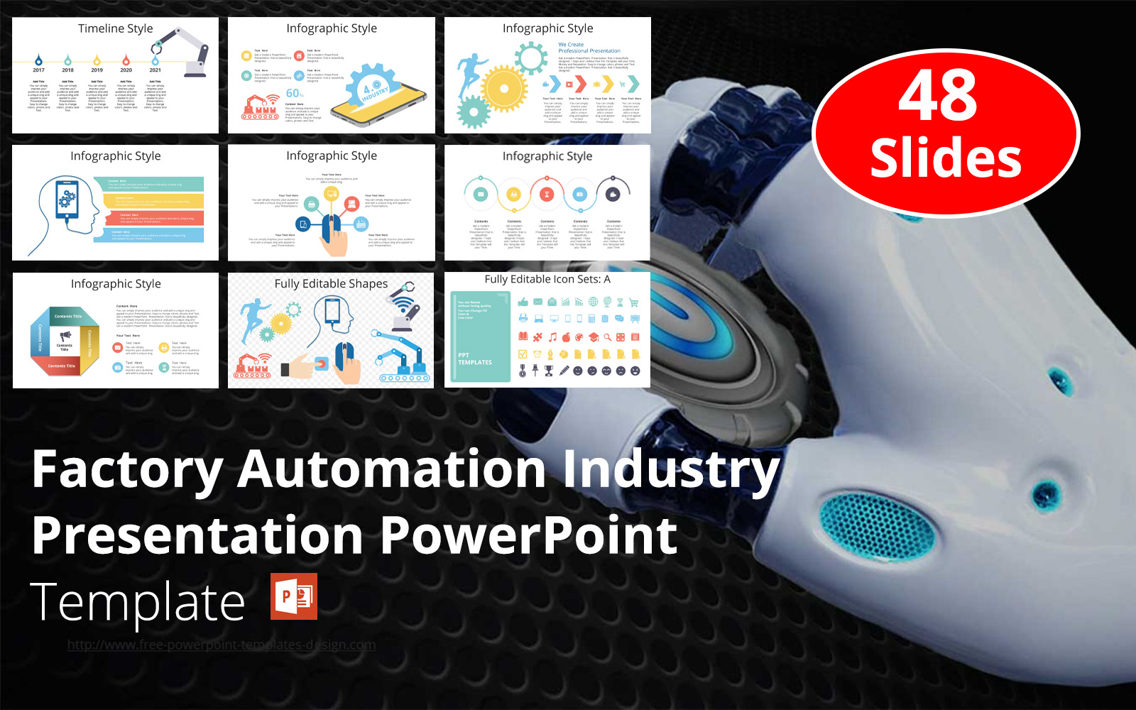 Factory Automation Industry Presentation PowerPoint Template