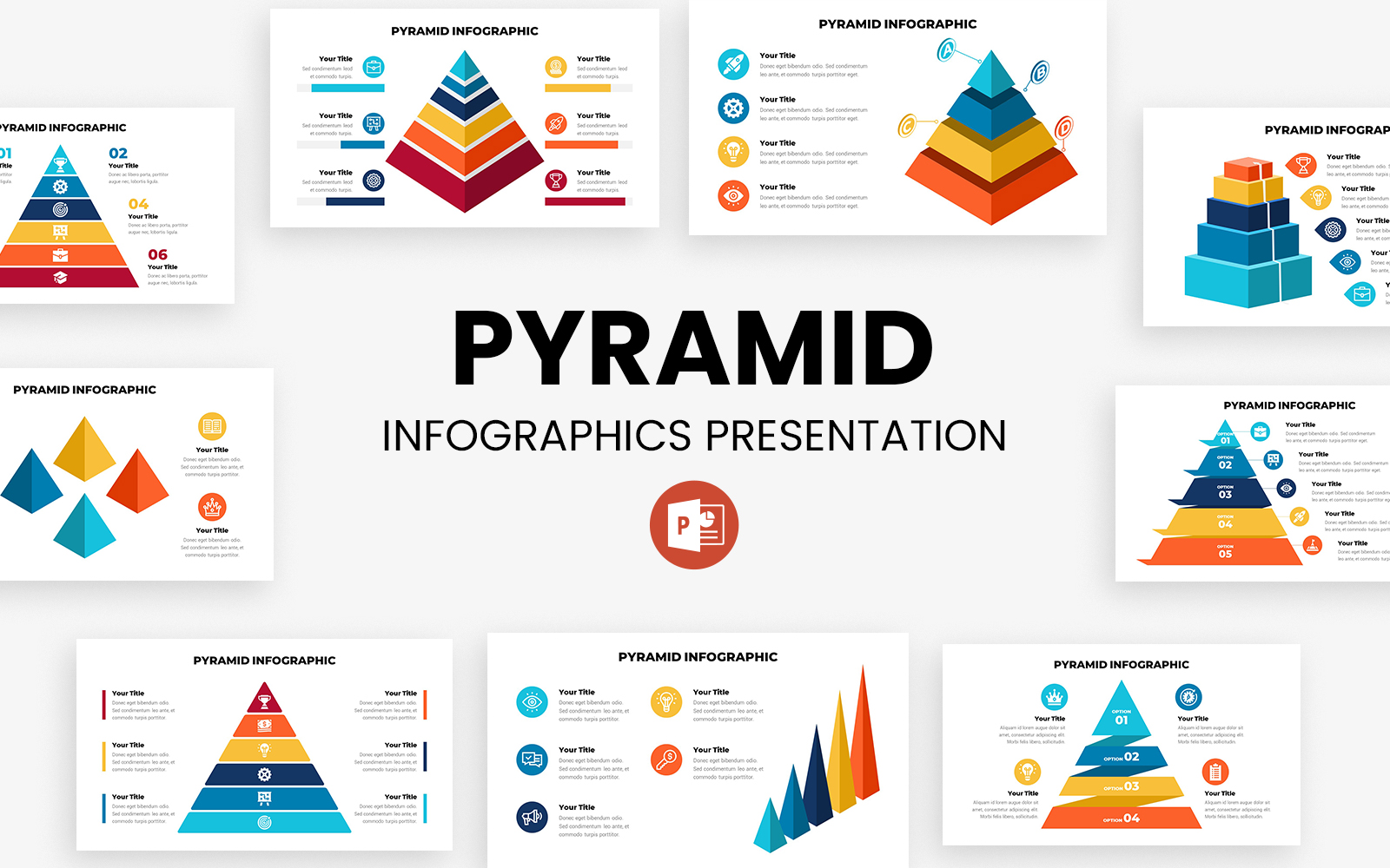 Pyramid Infographics Presentation - PowerPoint template