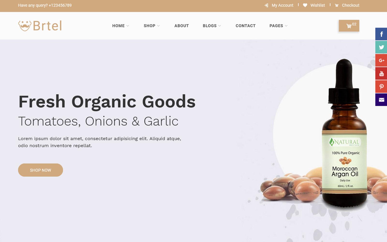 Brtel - Beard Oil HTML Bootstrap