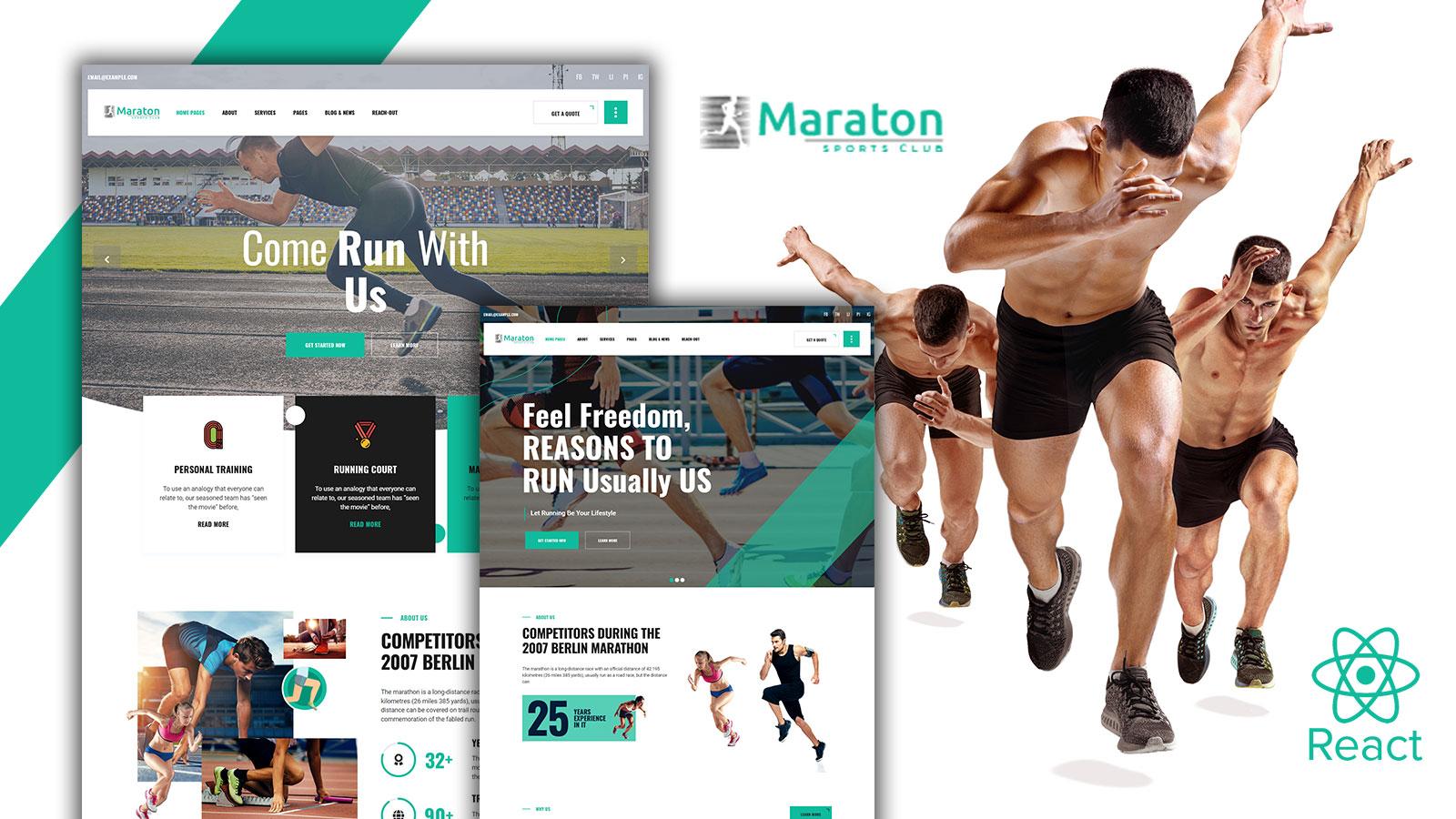 Maraton - Running Marathon React Template