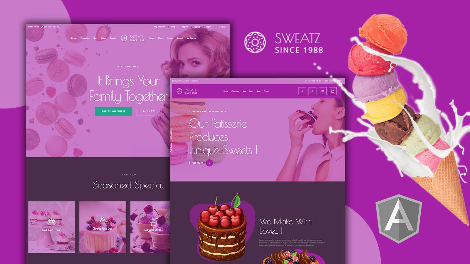 Sweatz - Sweats Angular Website Template