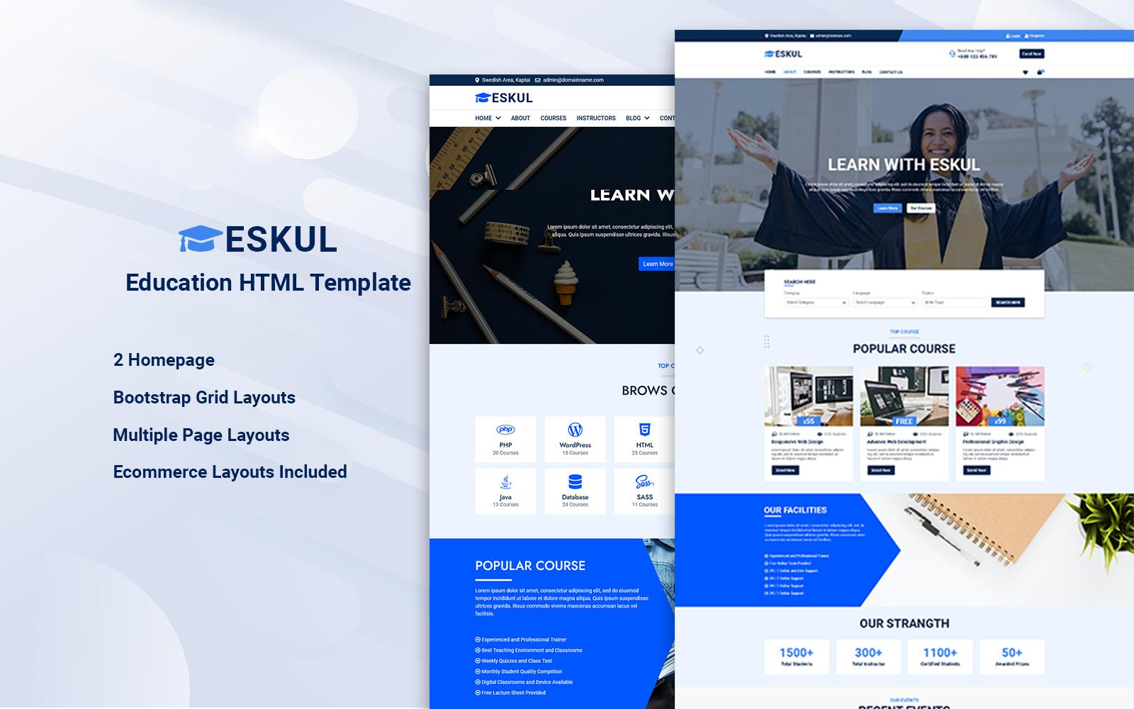 Eskul - Education HTML Website