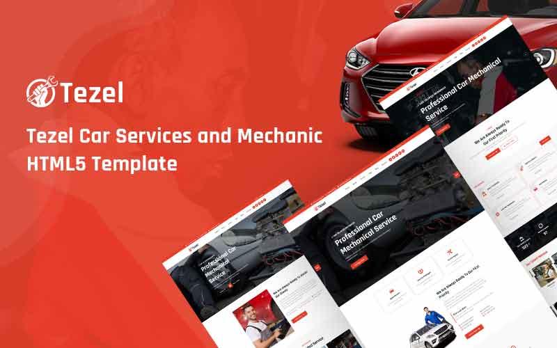 Tezel -  Car Services and Mechanic Responsive Website Template