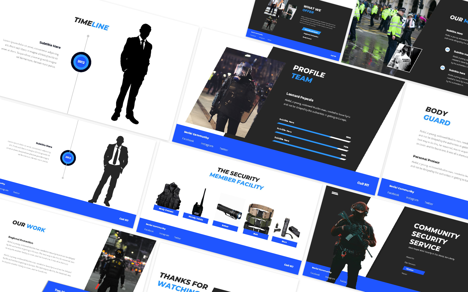 Security Guard Powerpoint Template