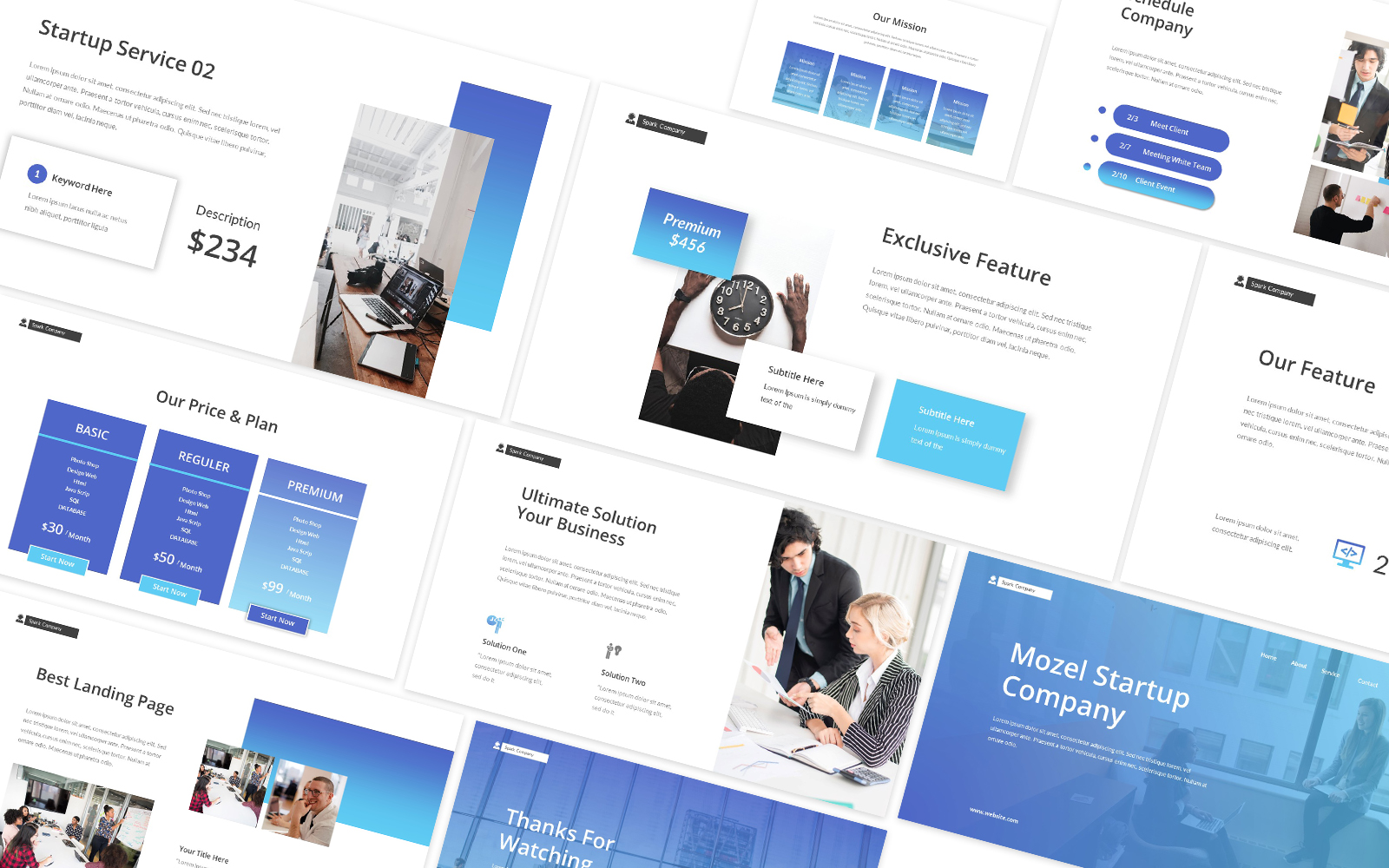 Startup Landing Page Powerpoint Template