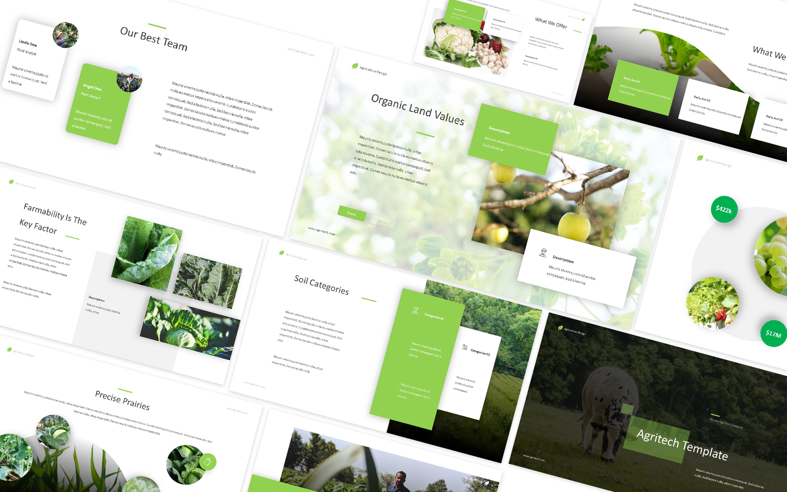 Agritech Powerpoint Template