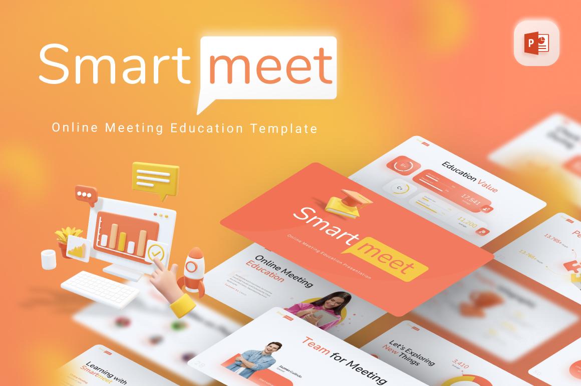 Smartmeet Online Meeting Education Modern PowerPoint Template
