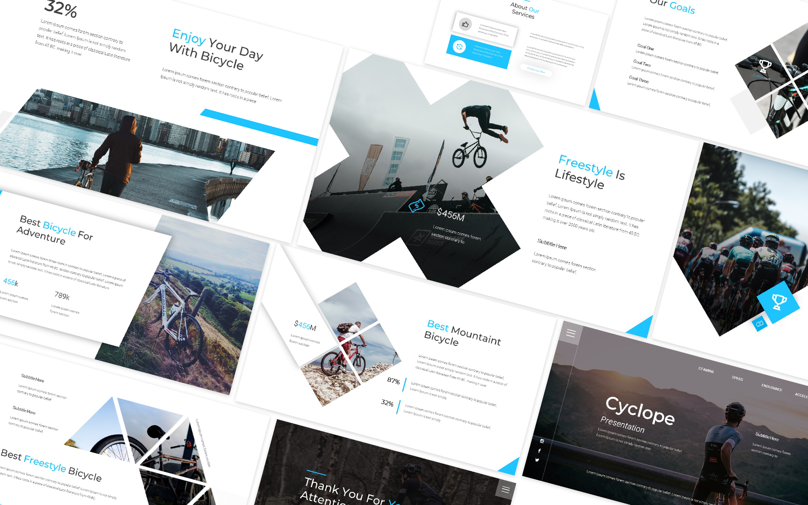Cyclope Bicycle Powerpoint Template