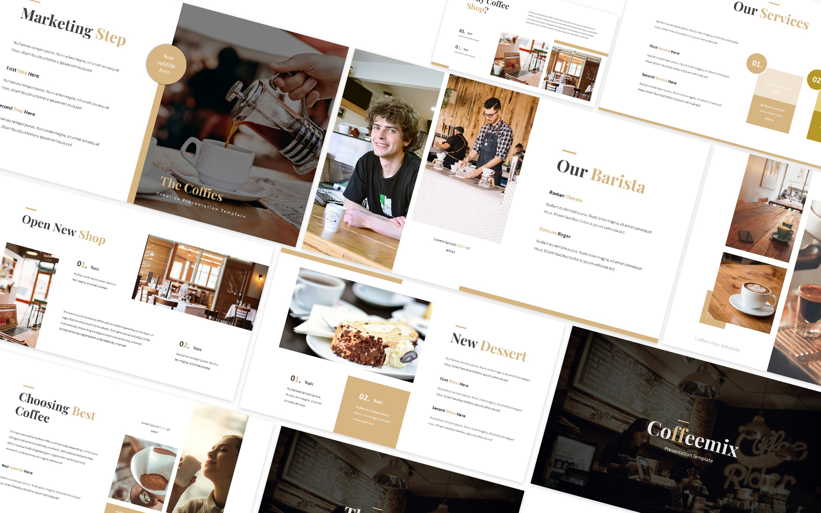 Coffies Powerpoint Template