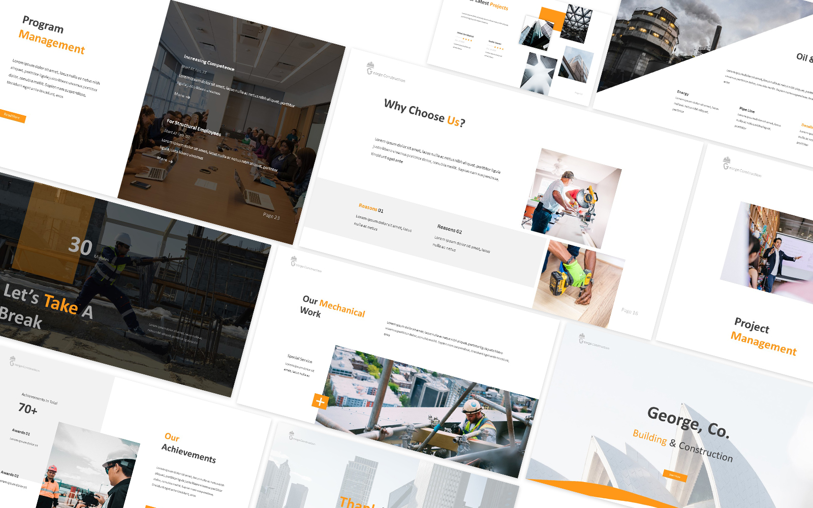 George Construction Powerpoint Template