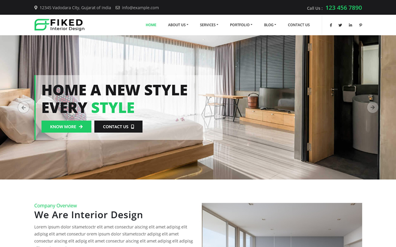 Fiked - Interior Design HTML5 Template