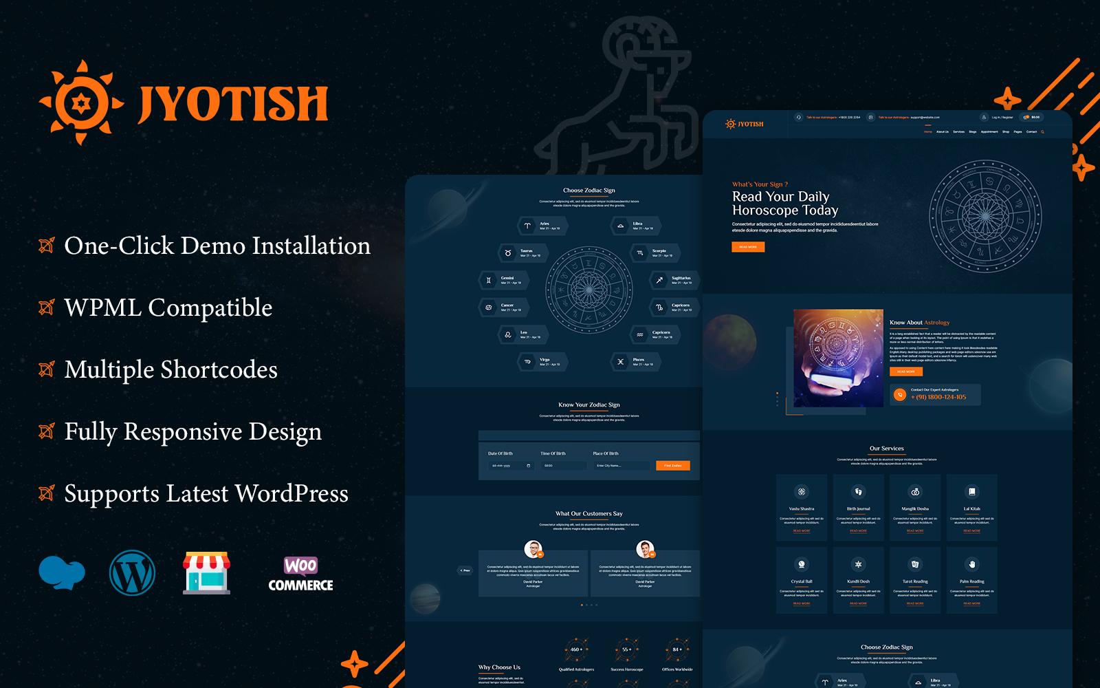 Jyotish - Astrology WordPress Theme