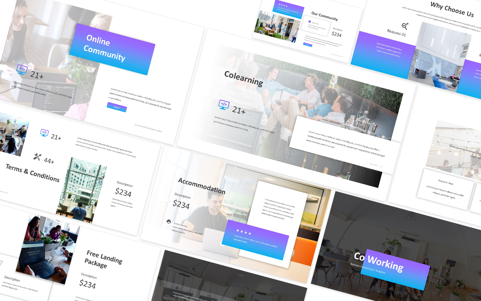 Co-Working Powerpoint Template