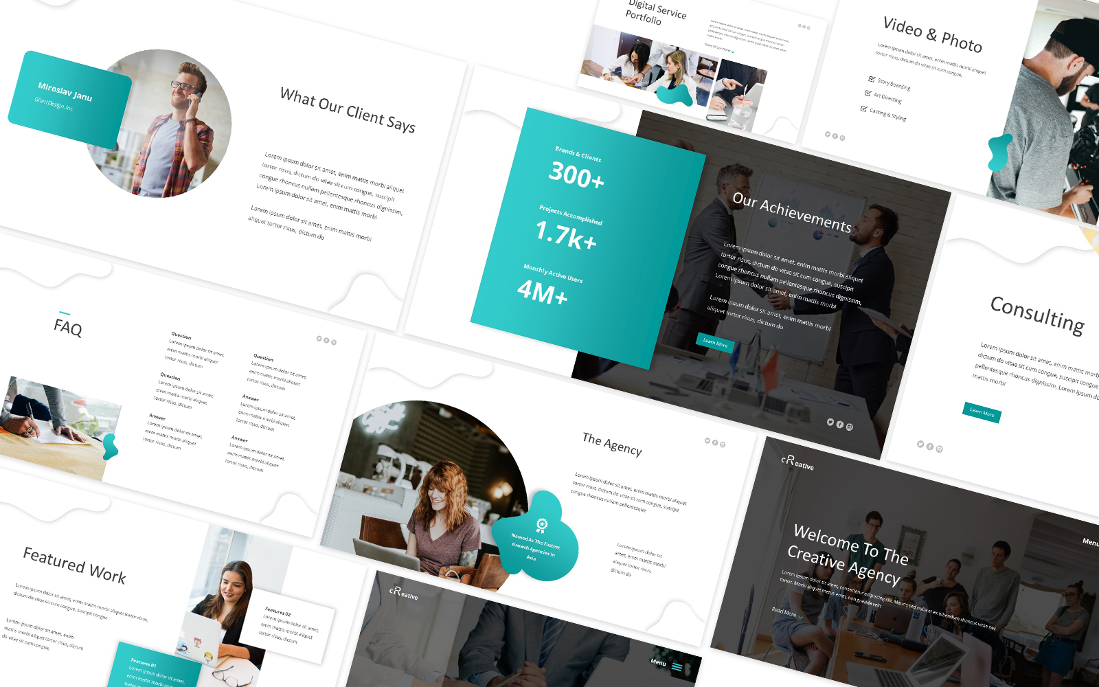 Creative Agency (CA) Powerpoint Template