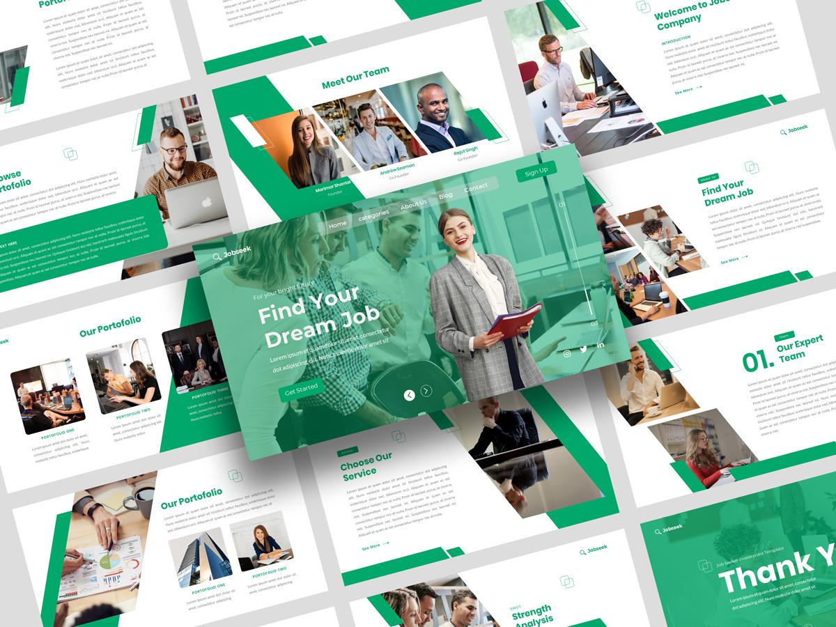 Jobseek - Job Vacancy & Jobseeker PowerPoint Template