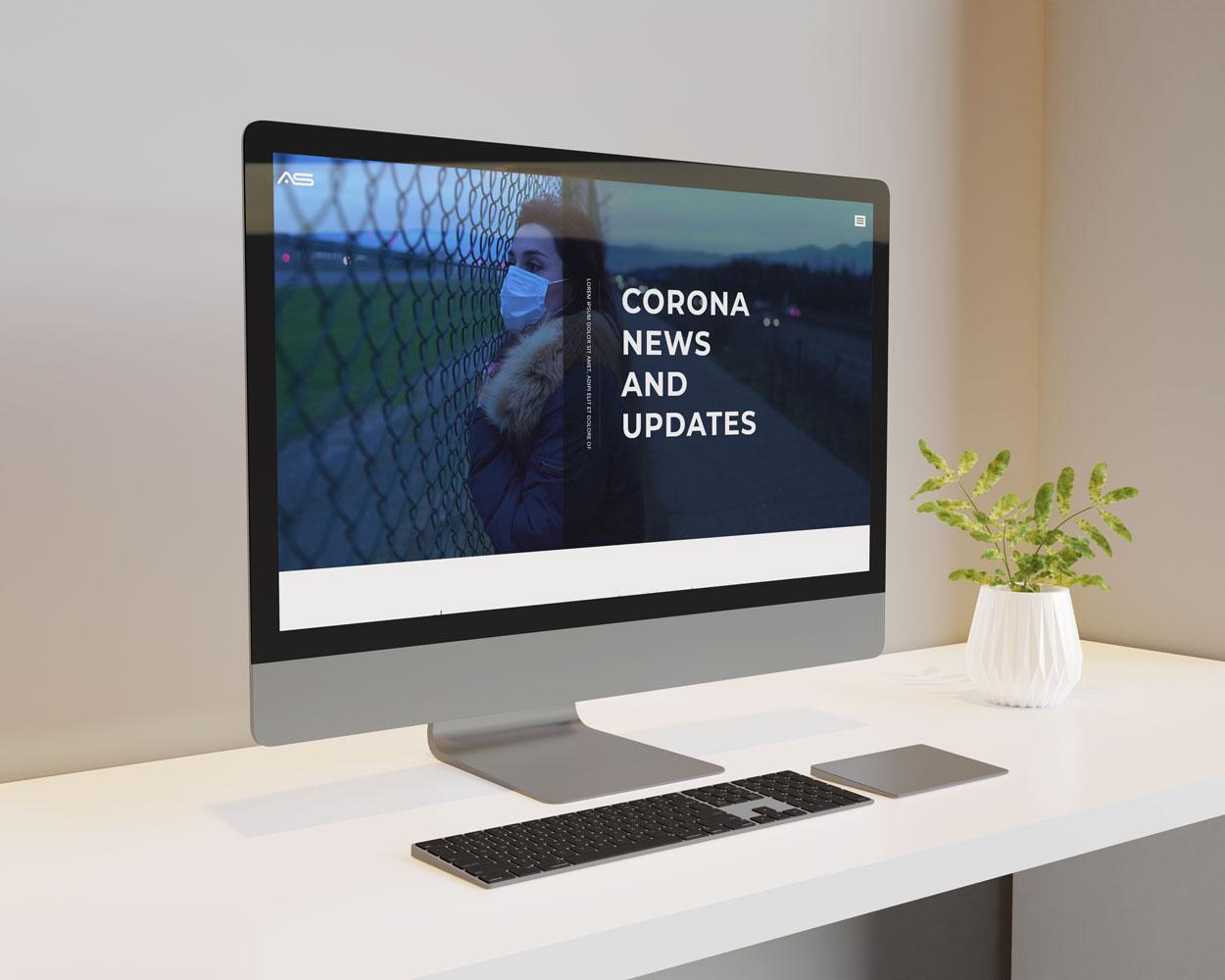 Tina | Corona News & Blog HTML5 Landing Page Template