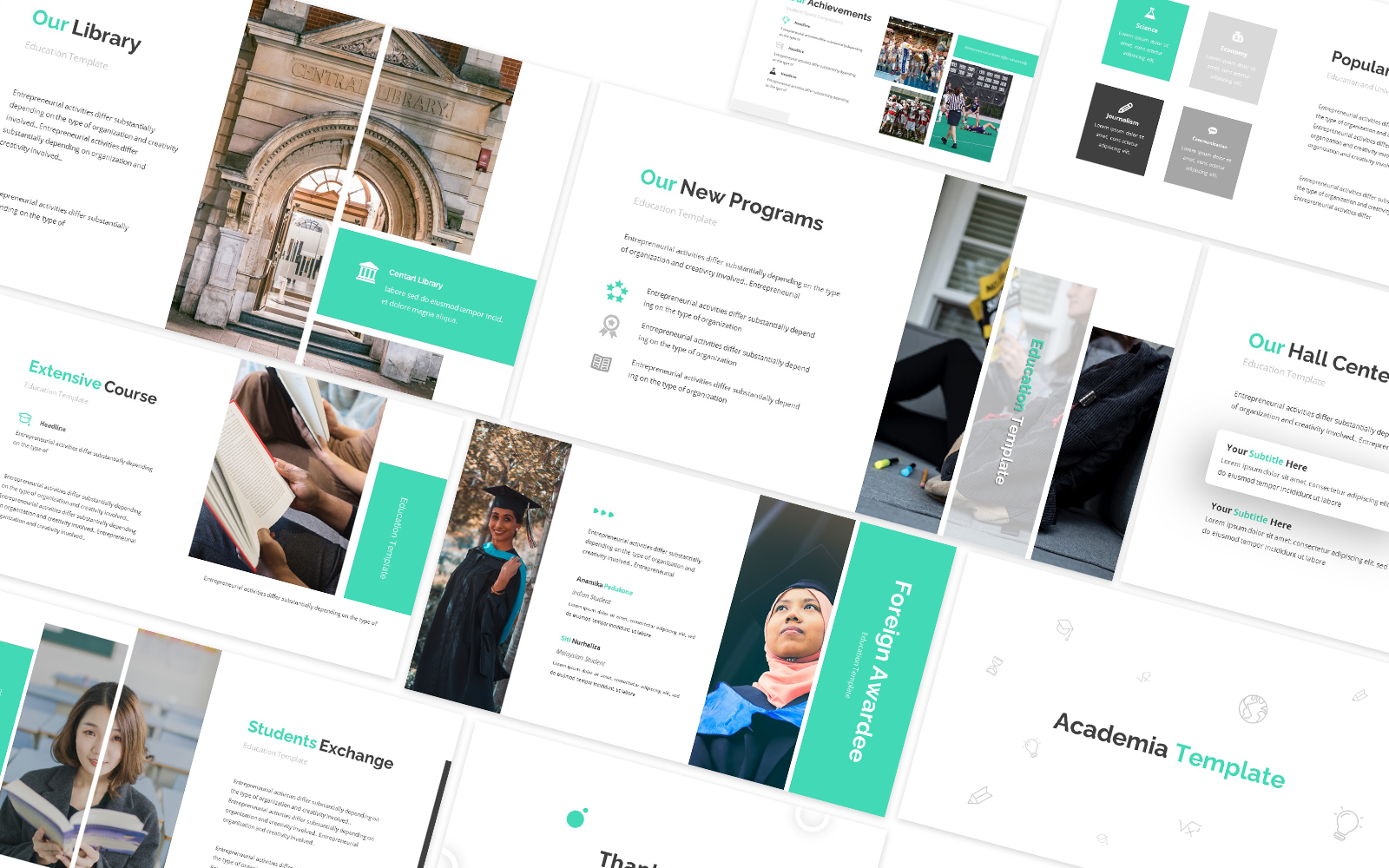 Academia Green Powerpoint Template