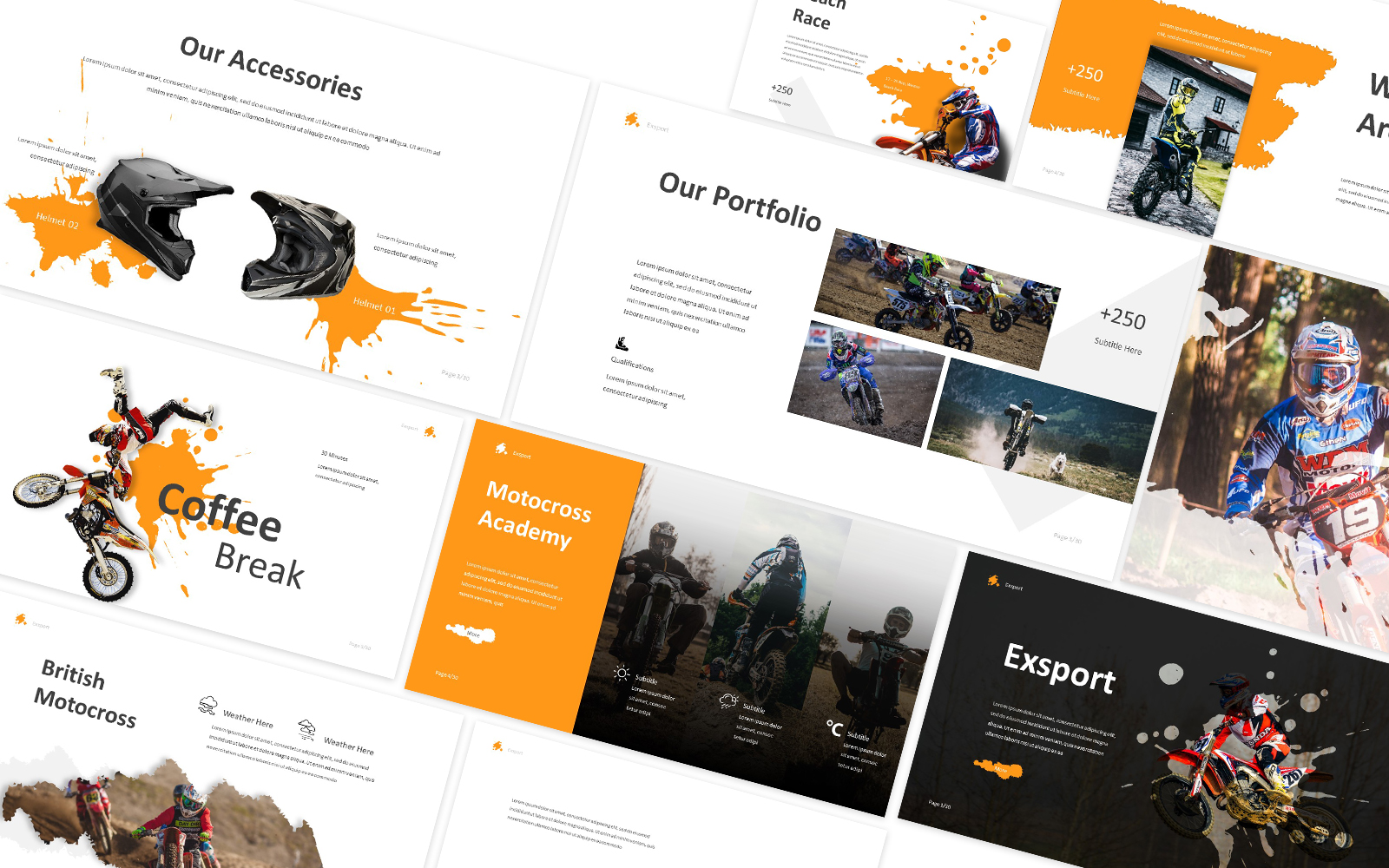 Exsport Extreme Sport Powerpoint Template