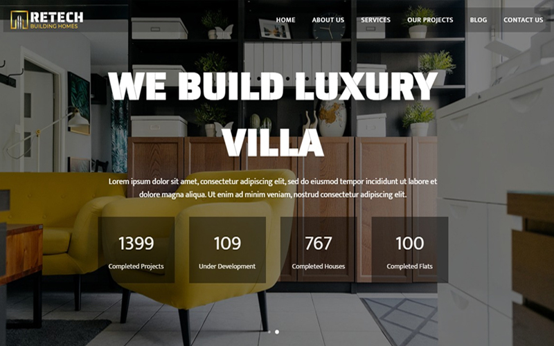 Architecture Responsive HTML5 Landing Page Template