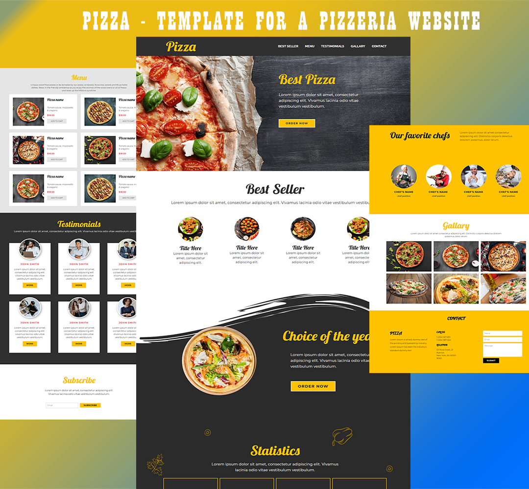 Pizza - Template for a Pizzeria Website