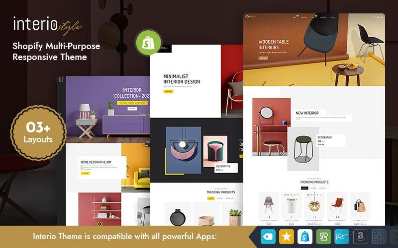 Interio - Furniture & Interior Multipurpose  Shopify Responsive Theme