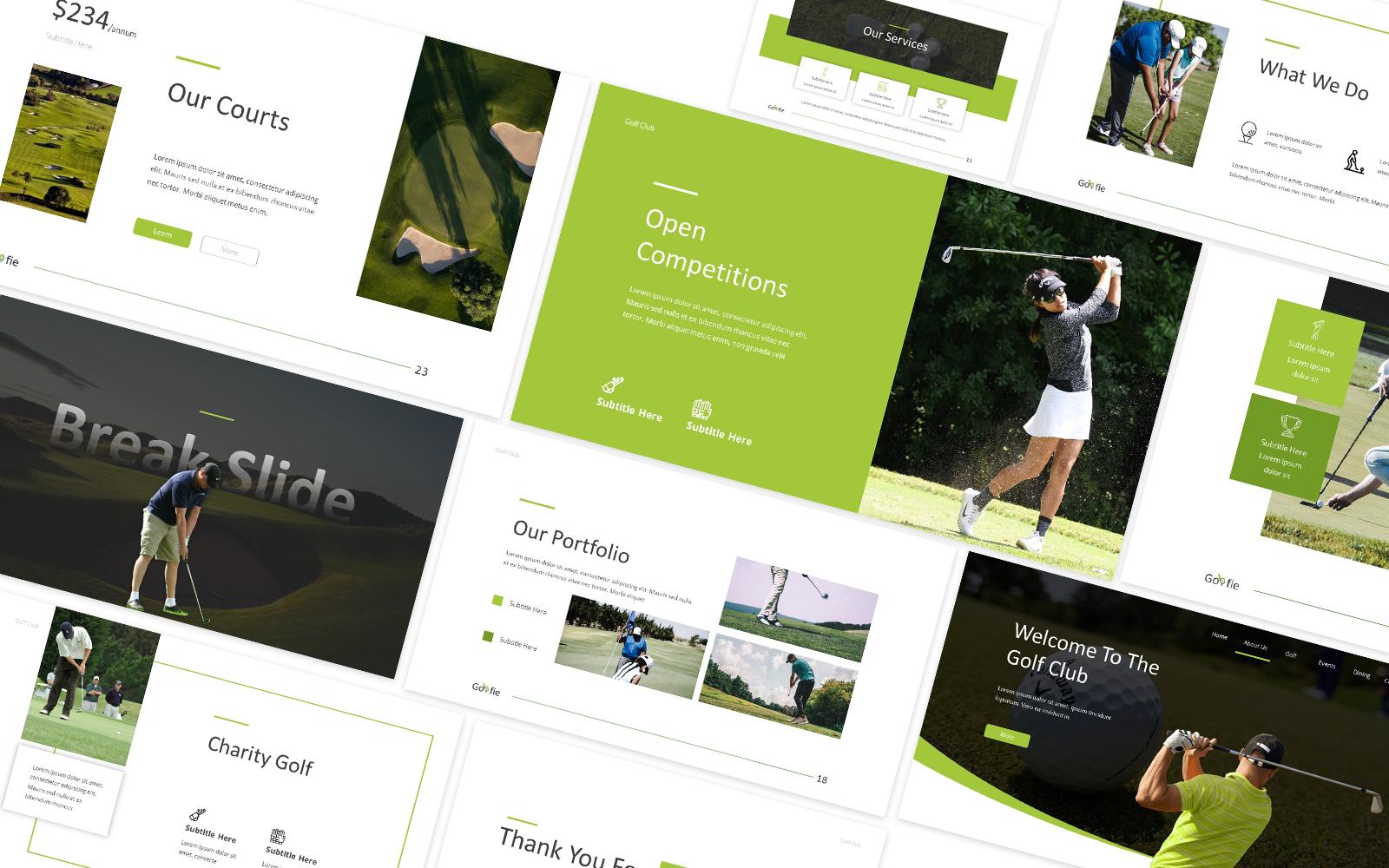 Golfie Golf Powerpoint Template