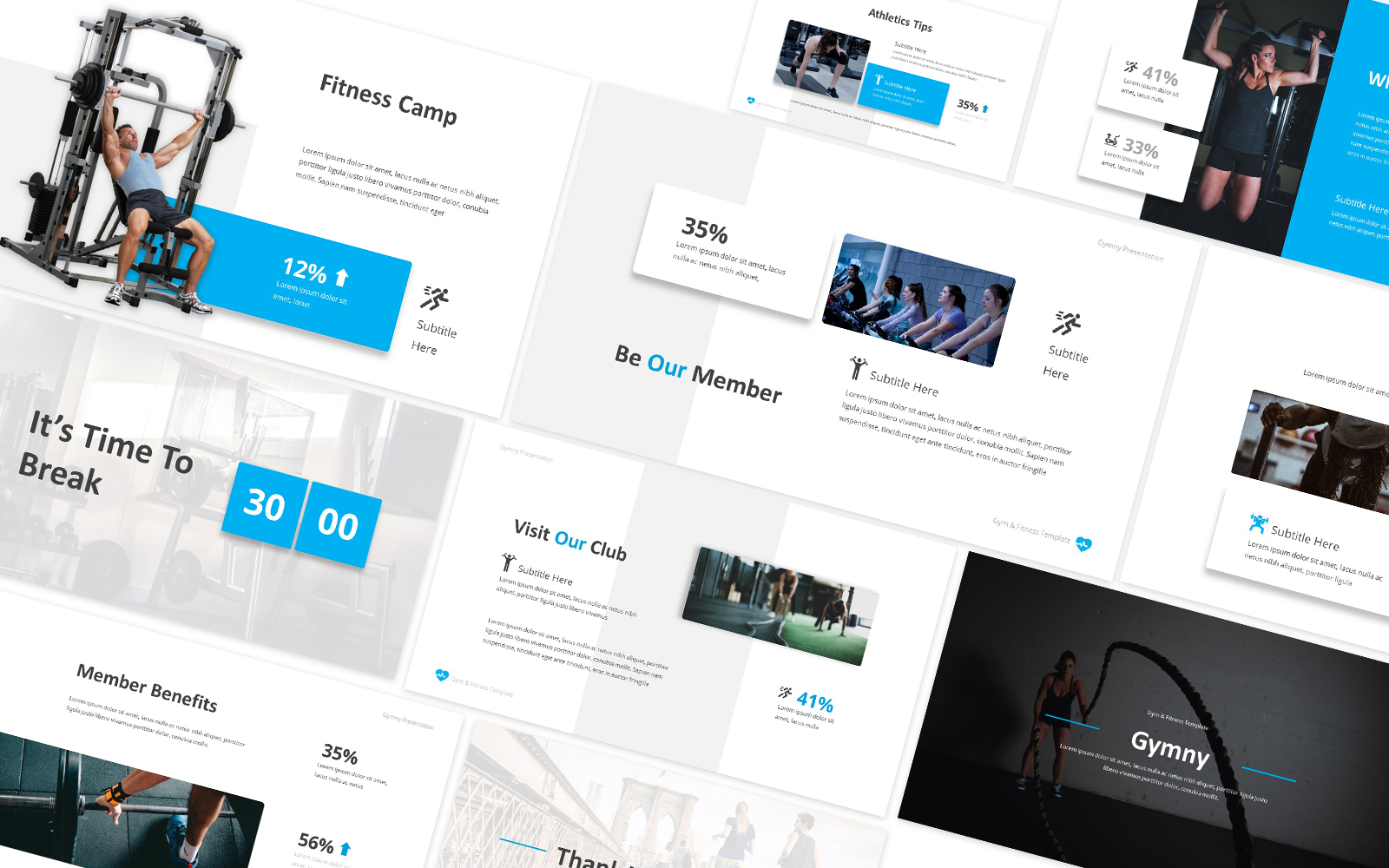 Gymny Gym & Fitness Powerpoint Template
