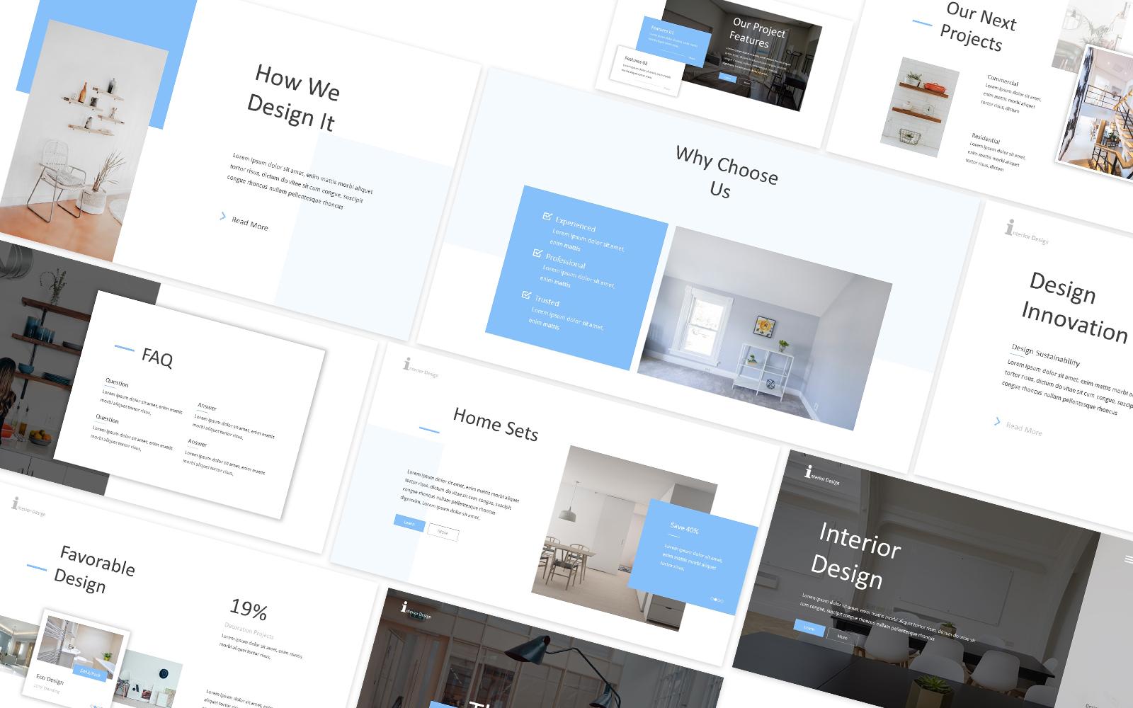 Interior & Furniture Design Powerpoint Template