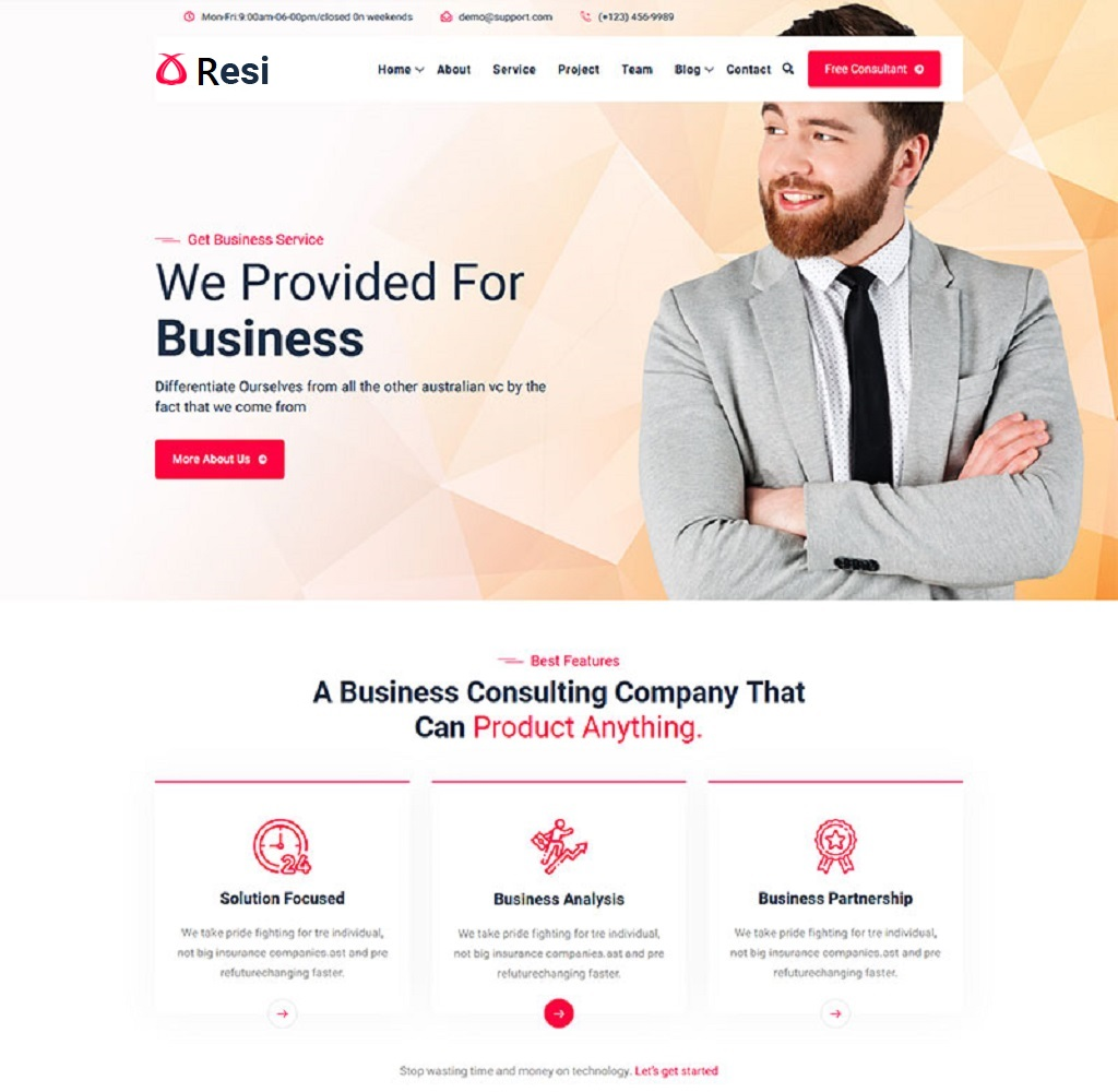 Resi - Business And Agency HTML Web template