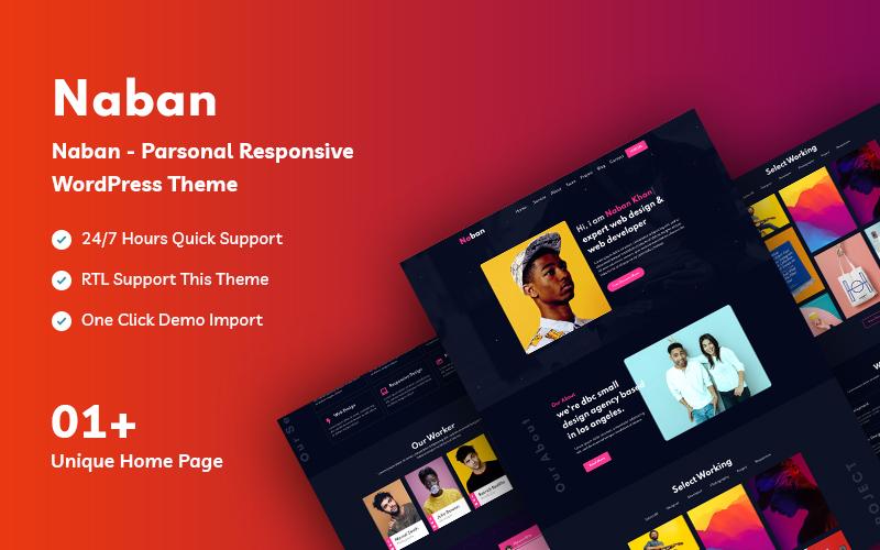 Naban Personal Responsive WordPress Theme