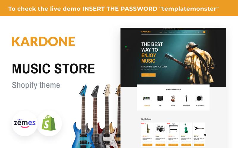 Kardone Music Store Shopify Theme