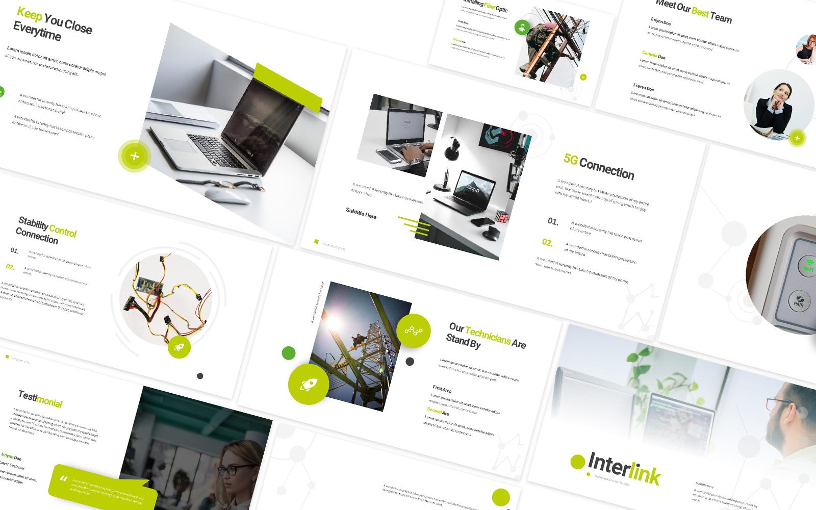 Interlink Internet Service Provider Powerpoint Template