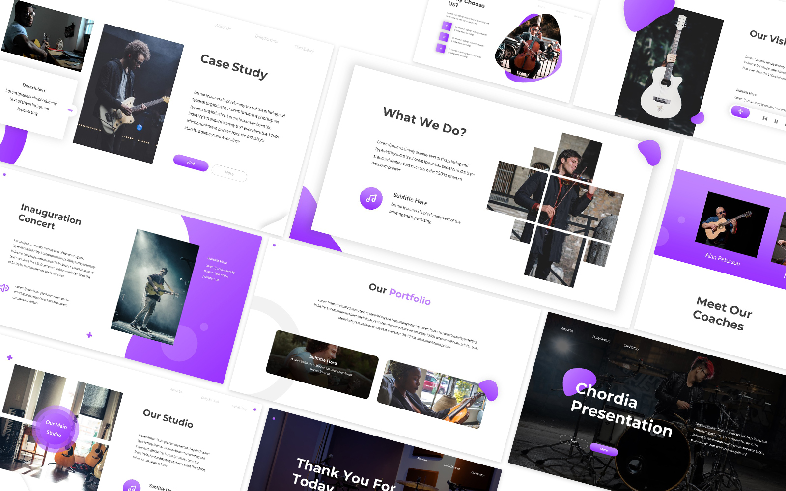 Chordia Music Powerpoint Template