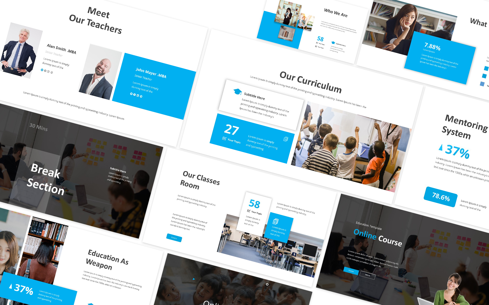 Education Online Course Powerpoint Template