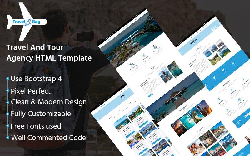 Travelbag - Travel Agency HTML Website Template