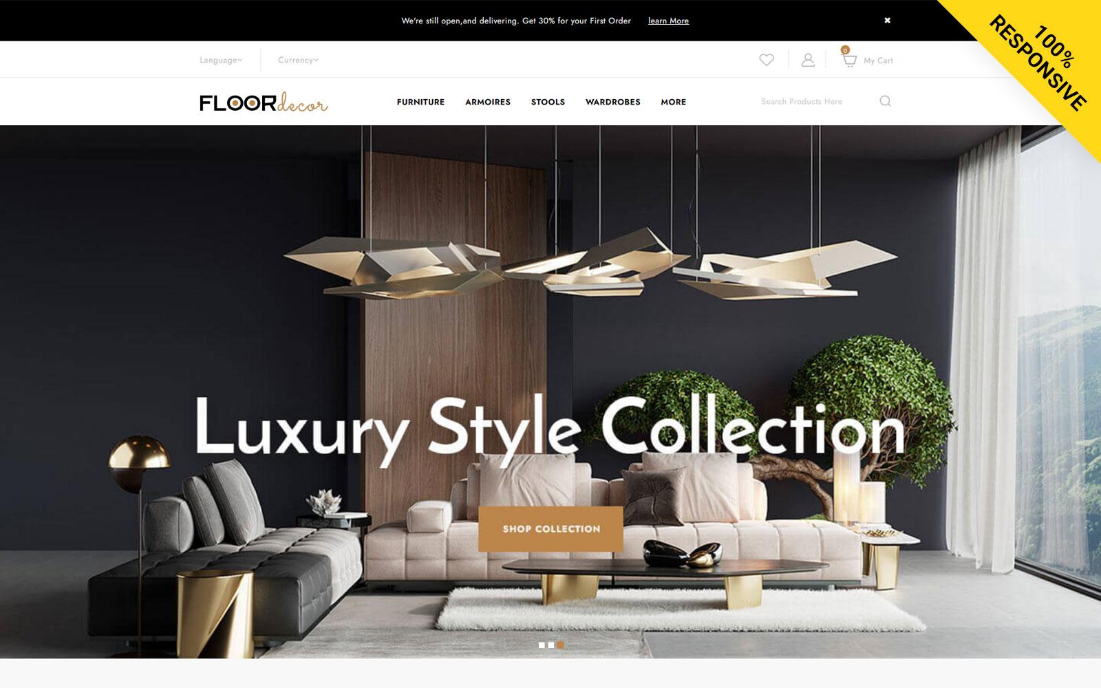 Floor Decor - Furniture Store Opencart Template