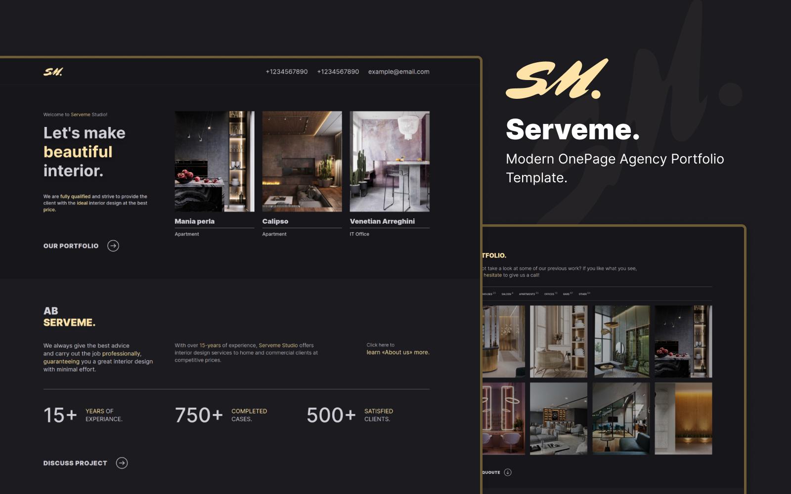 Serveme - OnePage Agency Portfolio Html 5 Template