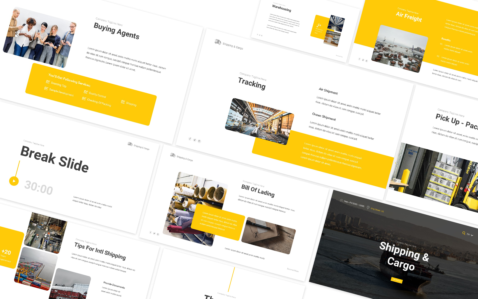 Shipping & Cargo Powerpoint Template