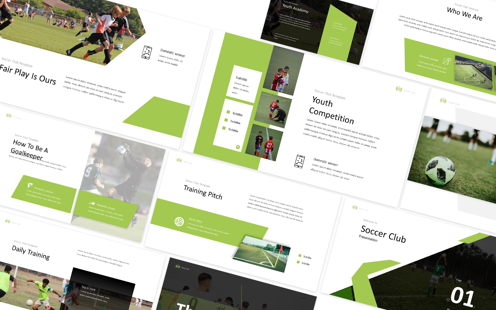 Soccer Club Powerpoint Template
