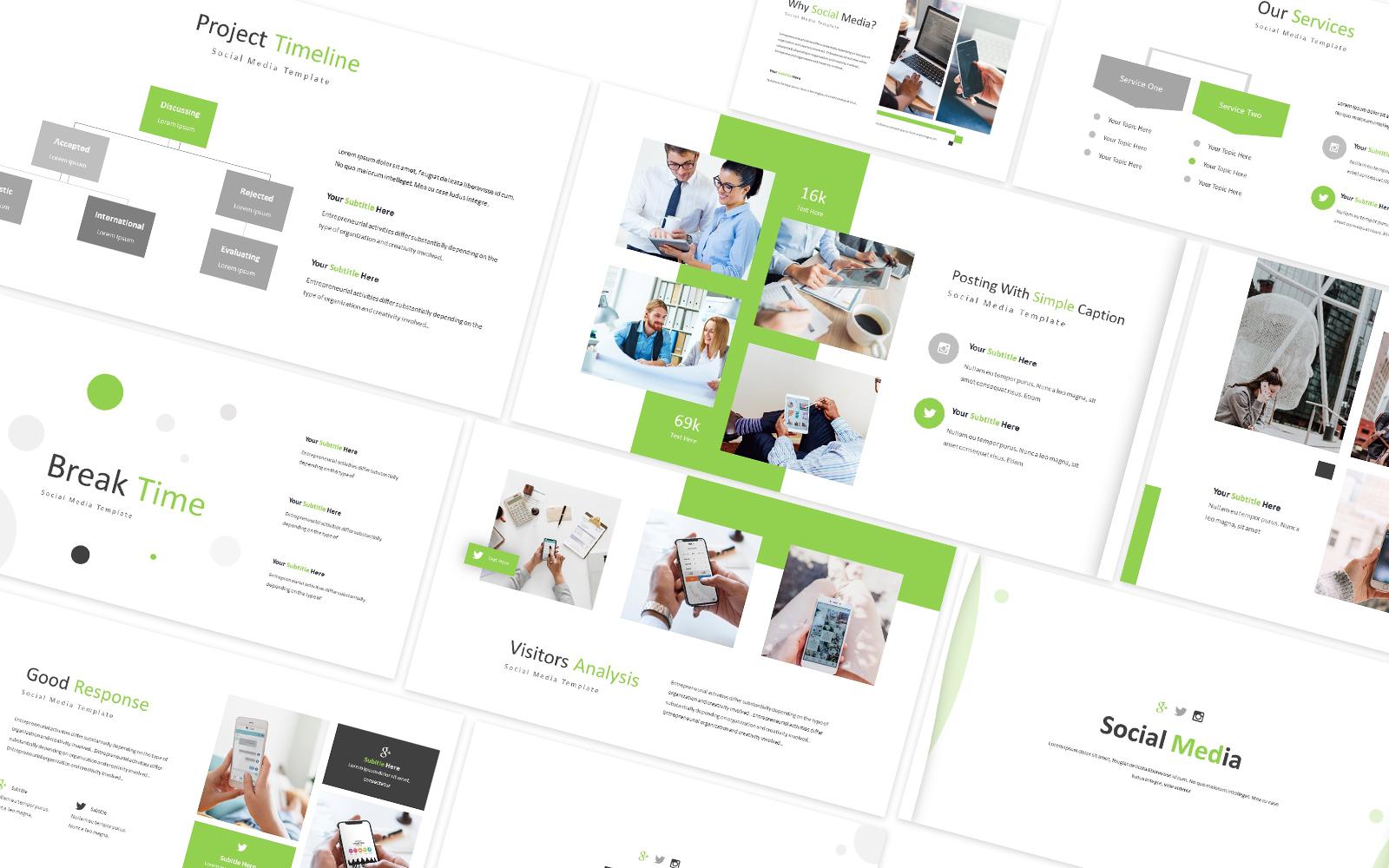 Social Media Company Powerpoint Template