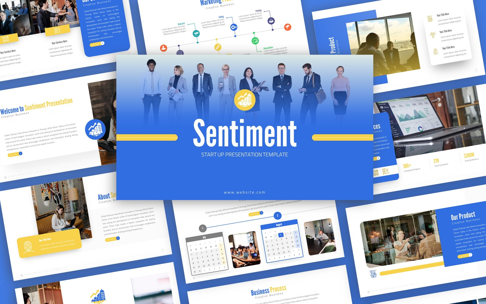 Sentiment - Strat Up Multipurpose PowerPoint Template