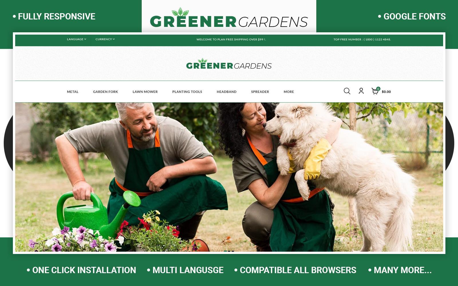 Greener - Garden Store OpenCart Template